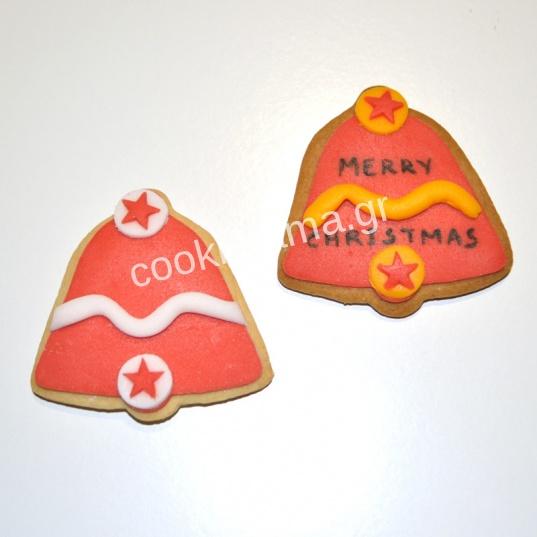 χριστουγεννιάτικα μπισκότα καμπάνα