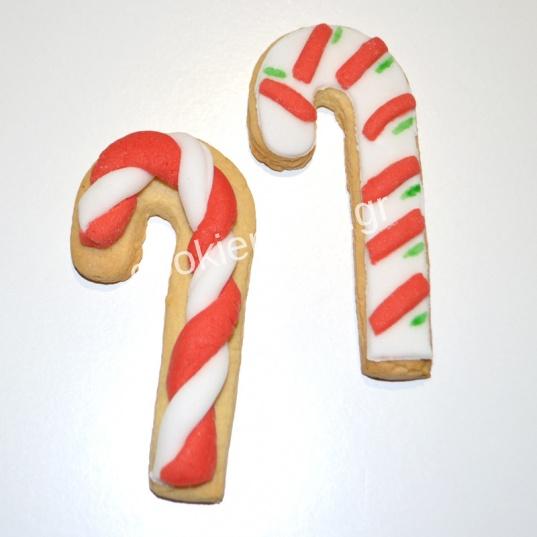 χριστουγεννιάτικα μπισκότα μπαστουνάκι