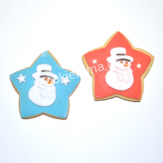 χριστουγεννιάτικα μπισκότα χιονάνθρωπος